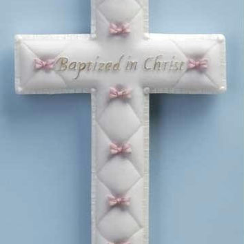 6 Wall Crosses - Girl Baptism