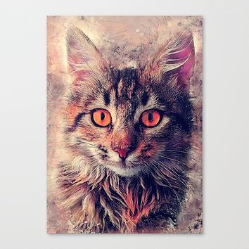 cat Jok #cat #cats #animals Canvas Print by jbjart