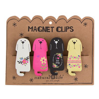Natural Life Magnet Clip Set of 4 - Dogs