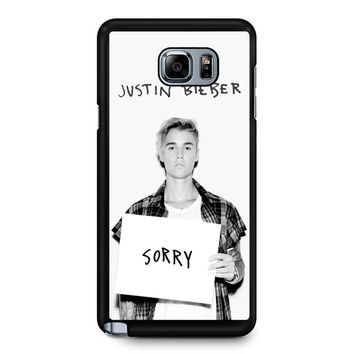Justin Bieber Sorry Samsung Galaxy Note 5 Case