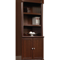 Sauder Palladia Library Bookcase with Doors - Select Cherry - Bookcases at Hayneedle