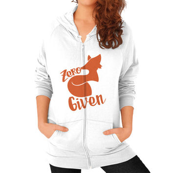 Zero Fox Given Zip Hoodie (on woman)