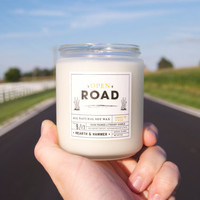 Open Road Literary Candle // All Natural Soy Wax, Handpoured 8oz