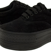 Maxstar C50 5-Holes Synthetic Suede Oxford Low Top Platform Sneakers Shoes Black