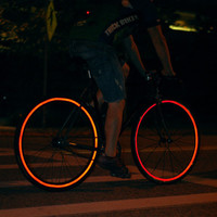 Reflective Bicycle Wheel Stickers in Red | Fiks:Reflective