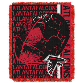 Falcons  48x60 Triple Woven Jacquard Throw - Double Play Series