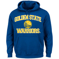 Majestic Golden State Warriors Heart & Soul Pullover Hoodie - Royal Blue