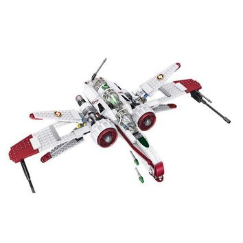 VONEGQ LELE 35004 Star Wars Space Battle Captain Jag Clone Pilot R4-P44 ARC-170 Fighter Assembled Toy Building Blocks Toys for Lepin