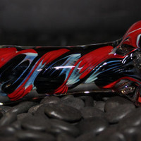 Red and Black Color Changing Thick Glass Pipe