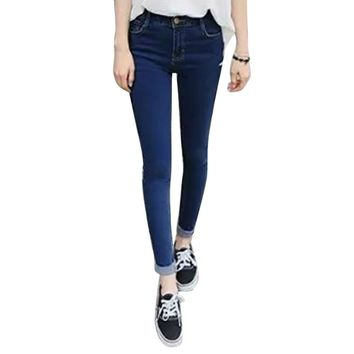 Trendy Women Girls High Waist Denim Jeans Trousers Slim Skinny Pencil Pants XS-XXXL
