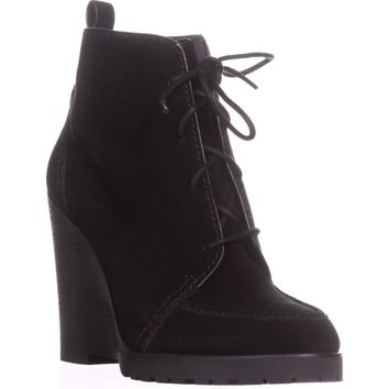 MICHAEL Michael Kors Piper Lace Wedge Ankle Boots, Black Suede, 9.5 US / 40.5 EU