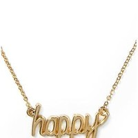 Happy Pendant Necklace