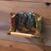 Colorful Western Boots Roll Toilet Paper Holder horse 50% OFF