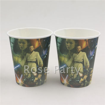 10Pcs/lot New star wars paper cup for Boys Girls Favors Birthday Party Glasses Cup Decoration Paper Cup Baby Shower Supplies