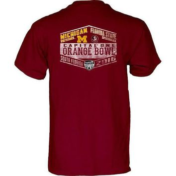 ONETOW NCAA Florida State Seminoles vs Michigan Wolverines Orange Bowl Game Day T-Shirts