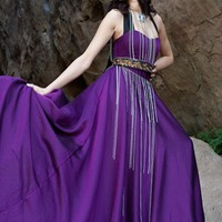 Chiffon High Waisted Princess Gown - Dresses