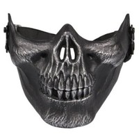 Skull Skeleton Airsoft Paintball Half Face Protect Mask-hansonlee