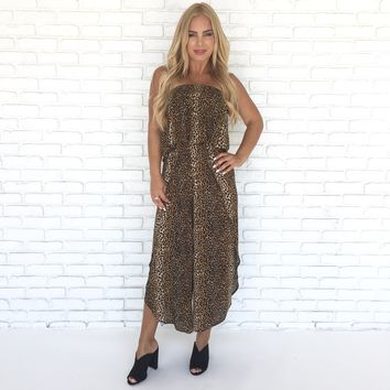 Into The Wild Leopard Jumpsuit