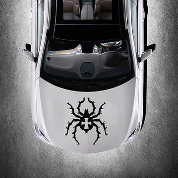 EVIL SPIDER ANIMAL DESIGN HOOD CAR VINYL STICKER DECALS ART MURALS SV1500