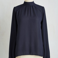 Mid-length Long Sleeve Editorial Edge Top