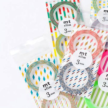 MT Slim Cords (3mm) Washi Tape Set / MT Tape / Kamoi / Paper Tape /