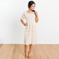 Ashcroft Lace Dress - Cream | Called To Surf