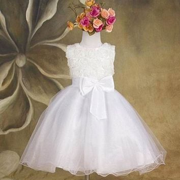 Princess Dress Lace Rose Party Wedding Birthday Candy Tutu Dresses