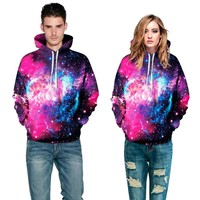 Moletom Feminina Fashion 3D Galaxy Print Hoodies Sweatshirt Women Men Couple Casual Hoody Coat Female Clothing Drop Shipping