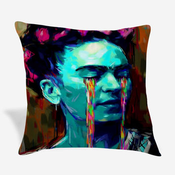 Frida Kahlo Crying Painting Pillow Case
