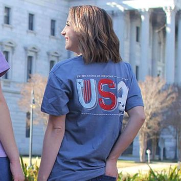 United States of Awesome Tee by Lily Grace