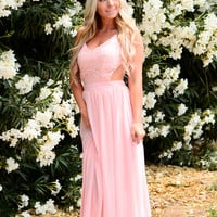 SWEPT AWAY DRESS IN BLUSH