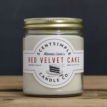Mama Laine's Red Velvet Cake Scented Soy Wax Candle