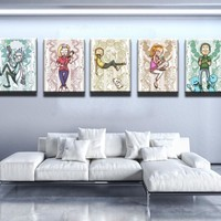 Rick and Morty Characters Canvas Set