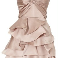 Strapless Draped Satin Karen Millen Dress [karen millen tube top 007] - $561.00 : www.karenmillensaling.com