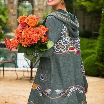 Saint-montan Sweater Coat - Sweater Coat, Sweater Jacket, Embroidered Sweater Coat | Soft Surroundings