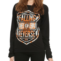 Falling In Reverse Shield Logo Girls Pullover Top