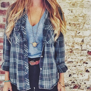 Vintage Oversized Flannel/Plaid Shirts/Boho/Cuffed/Long/Short/Unisex/bohemian/hipster/grunge
