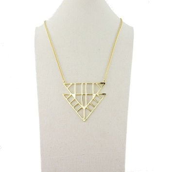 Gift Stylish Shiny New Arrival Jewelry Ladies Strong Character Geometric Pendant Sweater Chain Necklace [4956854852]