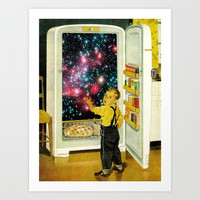No More Galaxies for Today, Timmy! Art Print by Eugenia Loli