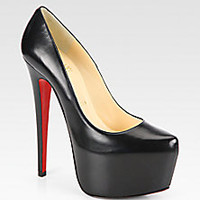 Christian Louboutin - Daffodile Leather Platform Pumps - Saks Fifth Avenue Mobile