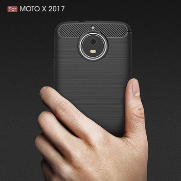 Effelon Case For Moto X4 XT1684 XT1685 Brushed Drawing Silicone Cover Case For Motorola Moto X 2017 / G5 plus Mobile Phone Shell