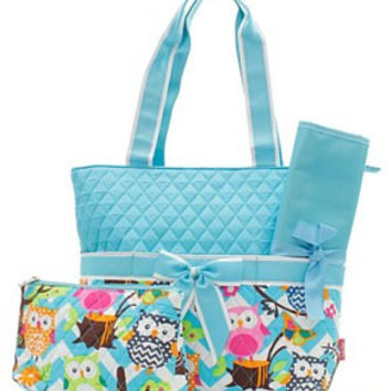 Owl & Chevron Diaper Bag - 3 Color Choices