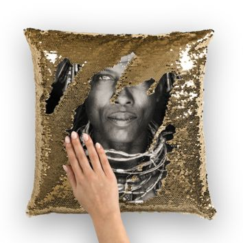 The Tribe Collection Sequin Pillow Cover