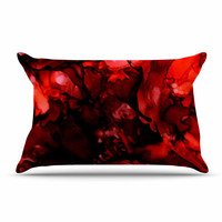 """Claire Day """"Dark Red"""" Maroon Pillow Case"""