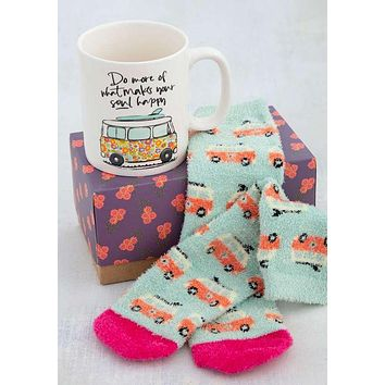 Do More of What Makes You Happy Mug & Cozy Sock Gift Set