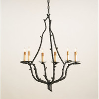 Currey and Company 9006 Soothsayer 6 Light Single Tier Chandelier | Capitol Lighting 1800lighting.com
