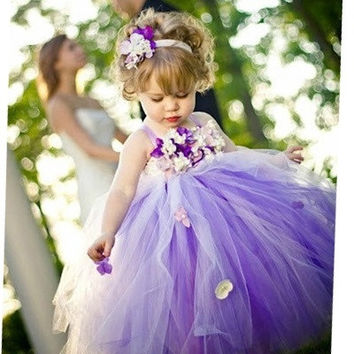 Children violet fairy princess dress flower girl dress skirt girls presided over the service of wedding dress = 1932710404
