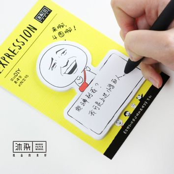 30Sheet/Pcs Funny Face Diary Notebook Sticky Notes Post It Kawaii Planner Scrapbooking Stickers Stationery School Supplies