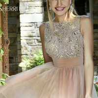Beaded Sleeveless Dress for Homecoming by Sherri Hill 11032