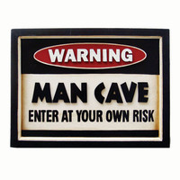 RAM Gameroom Products R174 Warning Man Cave Sign